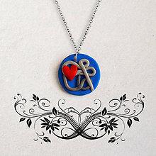 Náhrdelníky - Láska je komplikovaná (FIMO šperk) - 11595140_