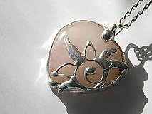 Náhrdelníky - Východ slnka- srdce ruženínu, tiffany - 11601668_