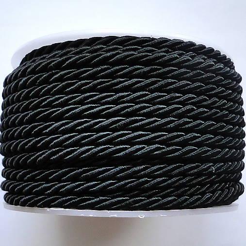 Šnúra točená 3mm-1m (čierna)