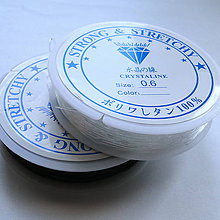Galantéria - Elastický vlasec/gumička - 11600328_