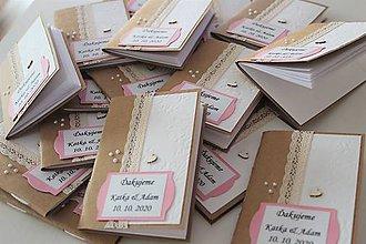 Papiernictvo - Minizápisníčky (pre svadobných hostí) - 11601081_