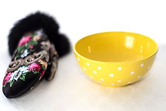 Nádoby - Žltá miska na musli či polievku - 11599665_