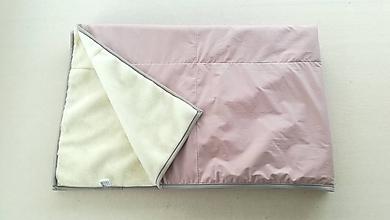 Úžitkový textil - Vlnienka Deka /prikrývka 100% ovčie rúno MERINO ELEGANT DUSTY PINK Staroružová - 11598652_