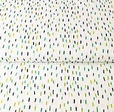 Textil - zelené čiarky, 100 % bavlna Francúzsko, šírka 140 cm - 11598937_