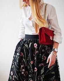Sukne - Kvetinová sukňa štvorcová - 11601932_