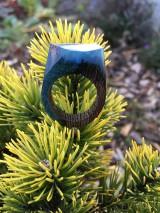 Prstene - Drevený prsteň: Malá galaxia - 11600780_