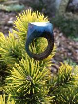Prstene - Drevený prsteň: Malá galaxia - 11600781_