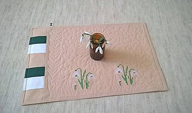 Úžitkový textil - Snežienky a bledulky na stole - 11600020_