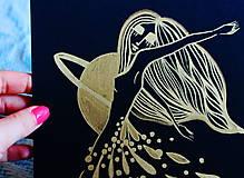 Kresby - Tanec zlatého dažďa - 11601788_