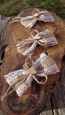 Pierka - Vintage svadobné pierka - juta - 11600368_