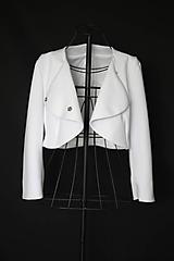 Kabáty - Kabátik do pása z hrubej elastickej látky rôzne farby - 11601206_