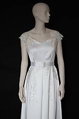 Šaty - Svadobné šaty z hrubého saténu SKLADOM - 11601383_