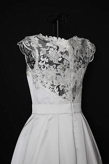 Šaty - Svadobné šaty s chrbátom z krajky rôzne vzory - 11601246_