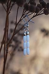 Náušnice - Náušnice bielo - platinové - 11600734_
