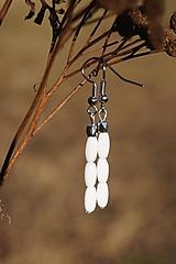 Náušnice - Náušnice bielo - platinové - 11600735_