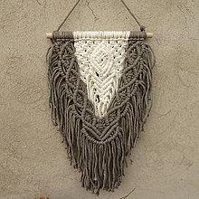 Dekorácie - Macramé na zeď Berenika - 11599307_