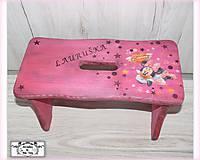 Nábytok - Cyklámenový stolček s menom :) - 11601128_