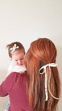 Ozdoby do vlasov - gumička dlhá mašľa - 11598770_