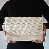 Kabelky - Slonovinová listová kabelka - 11601179_