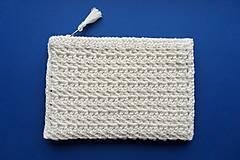 Taštičky - Slonovinová kozmetická taška malá - 11601436_