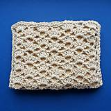 Taštičky - Prírodná béžová kozmetická taška malá - 11601767_
