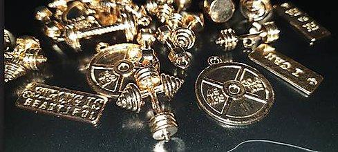 Komponenty - Prívesok FIT zlatá farba (balíček 10ks) - 11598875_