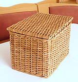 Košíky - košík s vrchnákom - hnedý - 11599669_