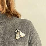 Odznaky/Brošne - Nočný motýl II - 11600852_