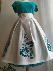 Sukne - Ručne maľovaná sukňa - 11601294_