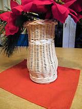 Dekorácie - Váza - sklenená fľaša opletené pedigom - 11601890_