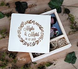 Krabičky - Krabička na USB a fotky venček - 11604214_