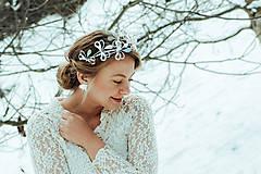 Ozdoby do vlasov - Postriebrený lístočkový venček - Devanka - 11604179_