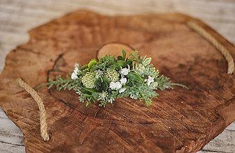Ozdoby do vlasov - Greenery  polvenček - 11605565_