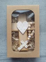Dekorácie - Set krížik a ruženec - 11604541_