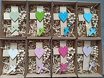 Dekorácie - Set krížik a ruženec - 11604542_