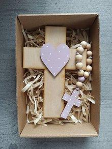 Dekorácie - Set krížik a ruženec - 11603963_