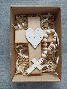 Dekorácie - Set krížik a ruženec - 11604544_