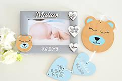 Detské doplnky - Fotorámik s údajmi o narodení - 11602541_