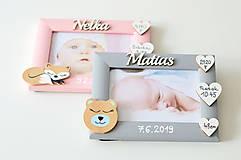Detské doplnky - Fotorámik s údajmi o narodení - 11602544_