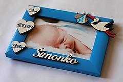 Detské doplnky - Fotorámik s údajmi o narodení - 11602567_