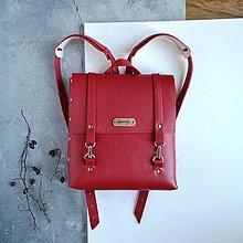 Batohy - Kožený batoh Ruby (červený) - 11603390_