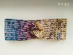 Čiapky - dvouvrstvá čelenka na mlýnku, barevný mix - 11602990_