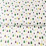 farebné kvapky, 100 % bavlna Francúzsko, šírka 140 cm