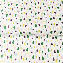 Textil - farebné kvapky, 100 % bavlna Francúzsko, šírka 140 cm - 11602806_