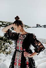 Šaty - Čierne vyšívané šaty Slovenské devy - 11604309_