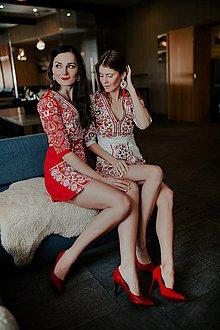 Šaty - Mini vyšívané šaty Slavianka - 11604565_