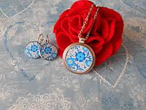 Sady šperkov - Modré kvietky - 11604664_