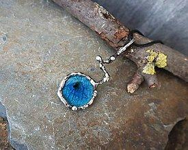 Náhrdelníky - Jazierko (keramika/sklo) - 11603092_