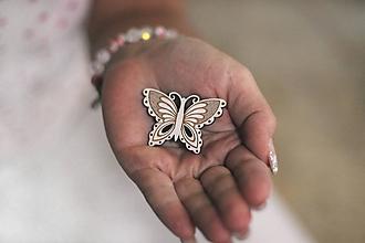 Odznaky/Brošne - Brošňa motýlia pre Zuzku - 11603125_