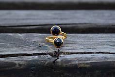 Prstene - Korund - Spinel pozlátený prsteň Ag - 11602374_